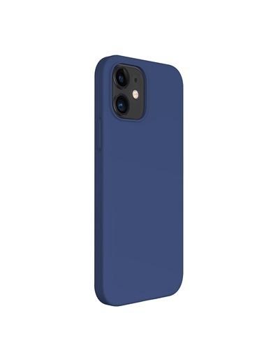 Microsonic Apple iPhone 12 Kılıf Groovy Soft Lacivert